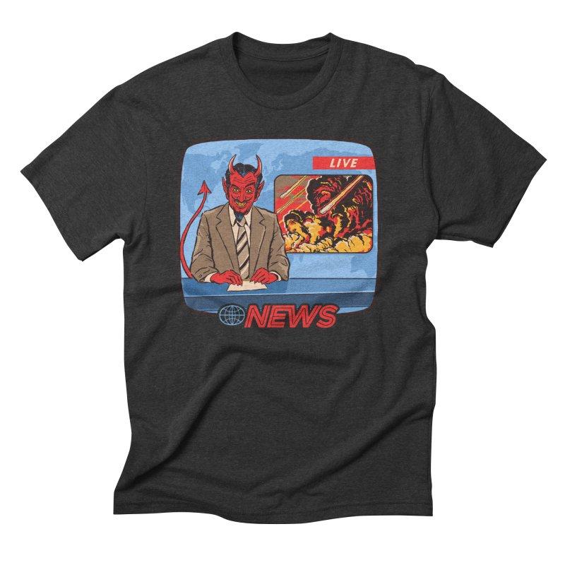 Breaking News Men's Triblend T-Shirt by Steven Rhodes