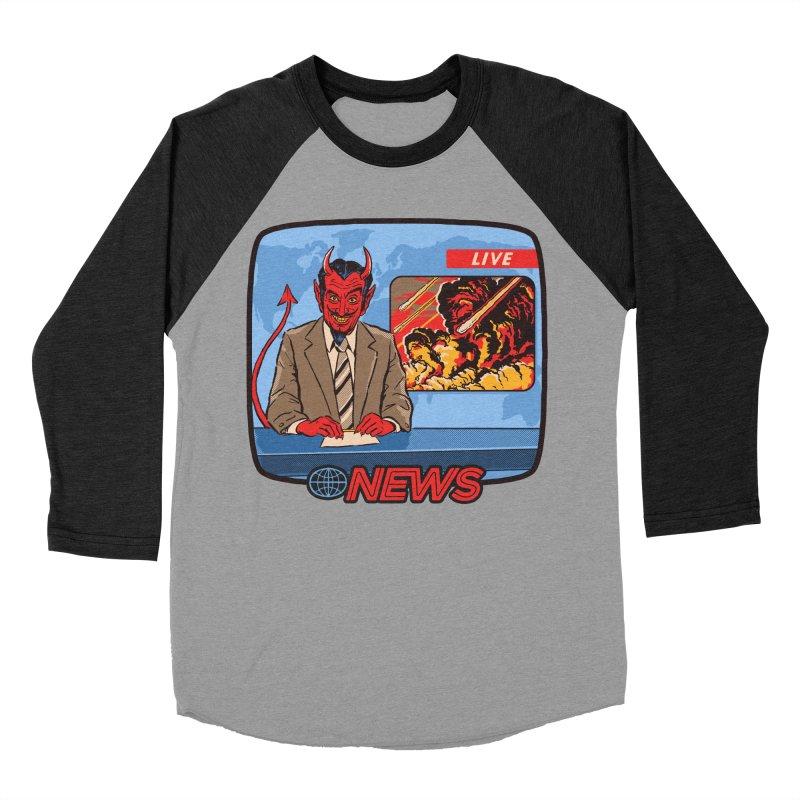 Breaking News Women's Baseball Triblend T-Shirt by Steven Rhodes