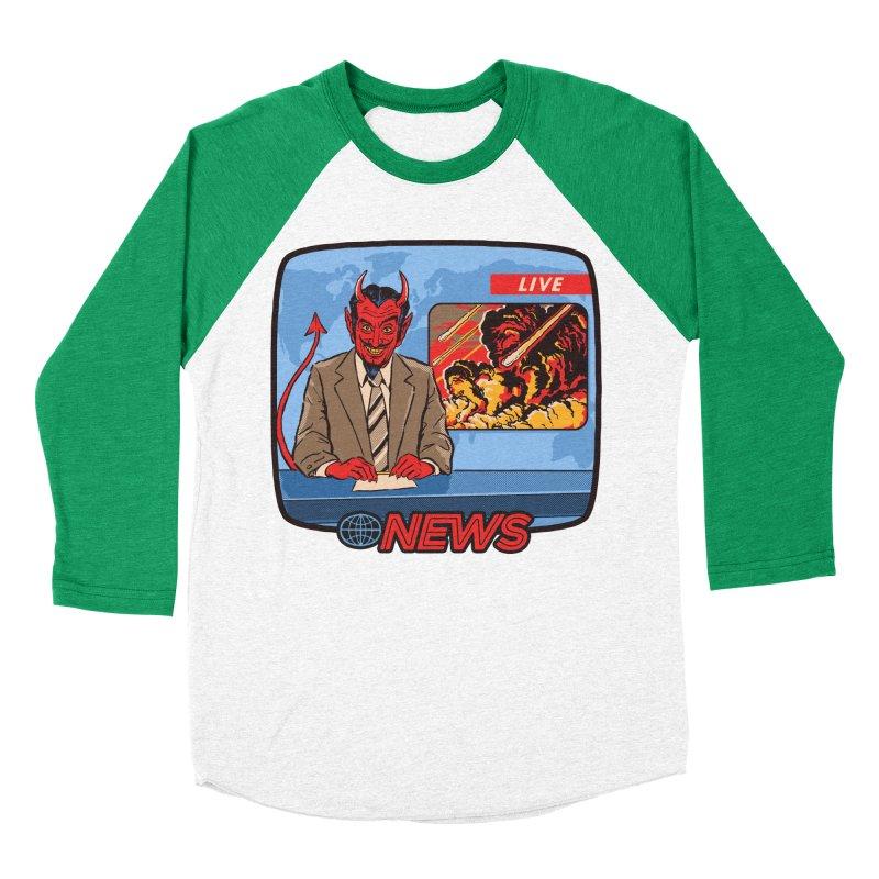 Breaking News Men's Baseball Triblend T-Shirt by Steven Rhodes