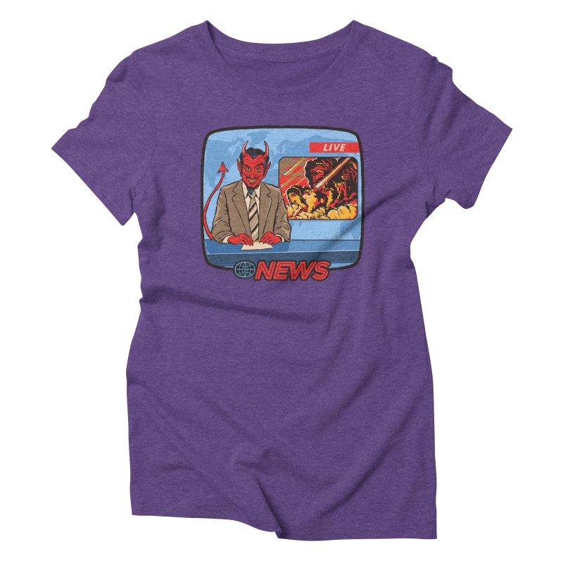 Breaking News Women's Triblend T-Shirt by Steven Rhodes