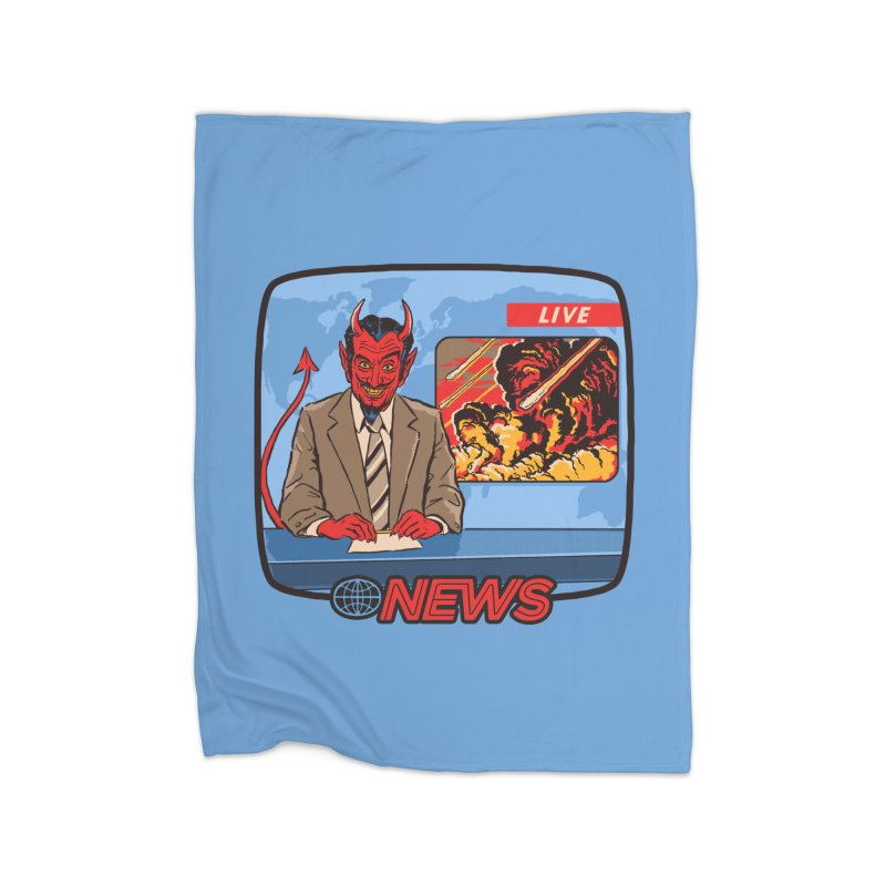 Breaking News Home Blanket by Steven Rhodes