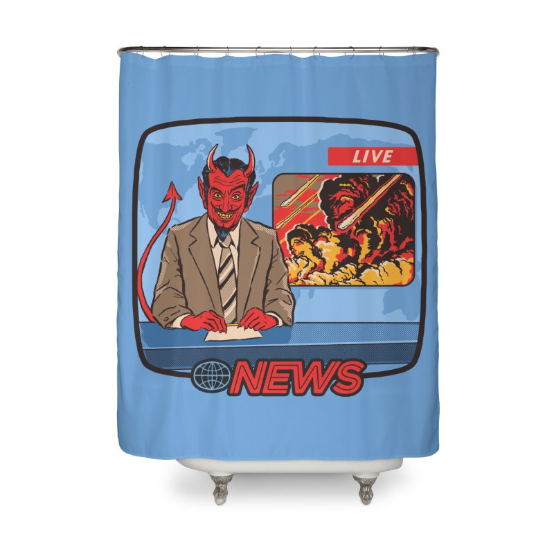 Breaking News Home Shower Curtain by Steven Rhodes