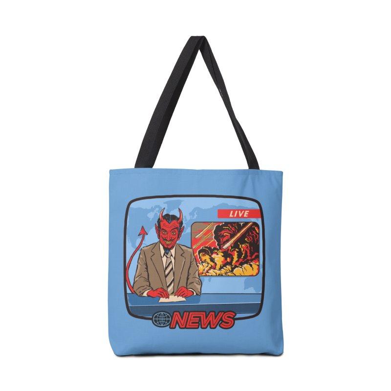Breaking News Accessories Bag by Steven Rhodes