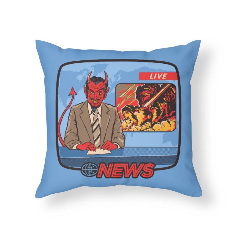 Breaking News Home Throw Pillow by Steven Rhodes