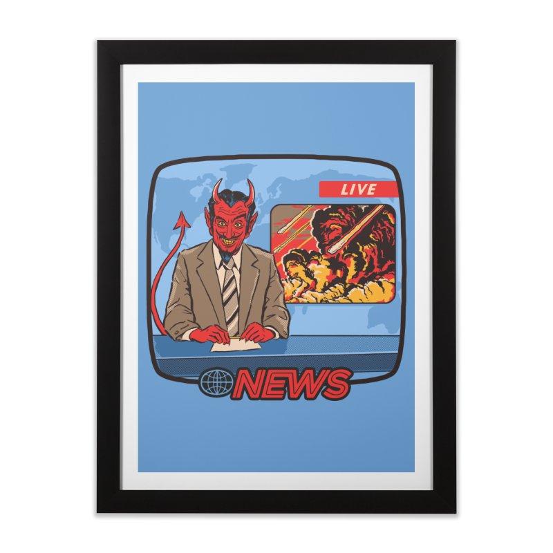 Breaking News Home Framed Fine Art Print by Steven Rhodes