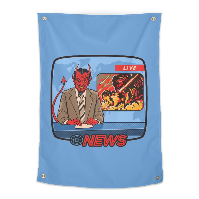 Breaking News Home Tapestry by Steven Rhodes