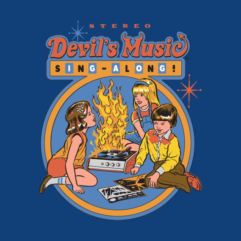 Devil's Music Sing-Along Home Bath Mat by Steven Rhodes