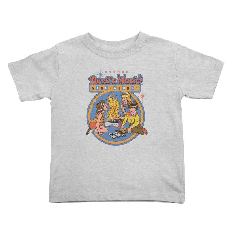 Devil's Music Sing-Along Kids Toddler T-Shirt by Steven Rhodes