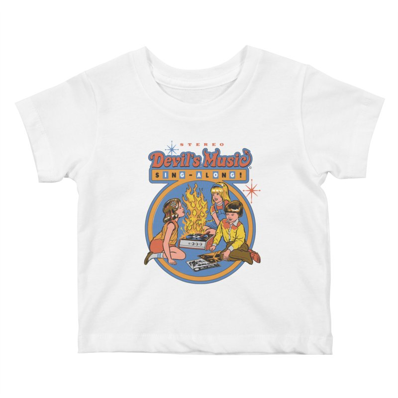 Devil's Music Sing-Along Kids Baby T-Shirt by Steven Rhodes