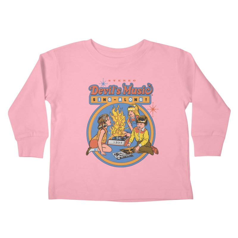 Devil's Music Sing-Along Kids Toddler Longsleeve T-Shirt by Steven Rhodes