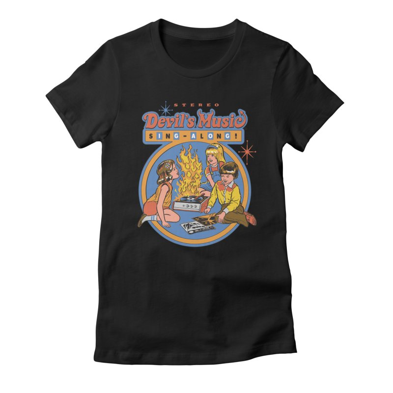 Devil's Music Sing-Along Women's Fitted T-Shirt by Steven Rhodes