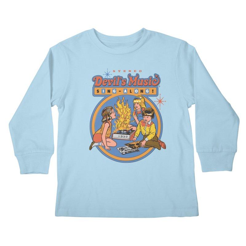 Devil's Music Sing-Along Kids Longsleeve T-Shirt by Steven Rhodes