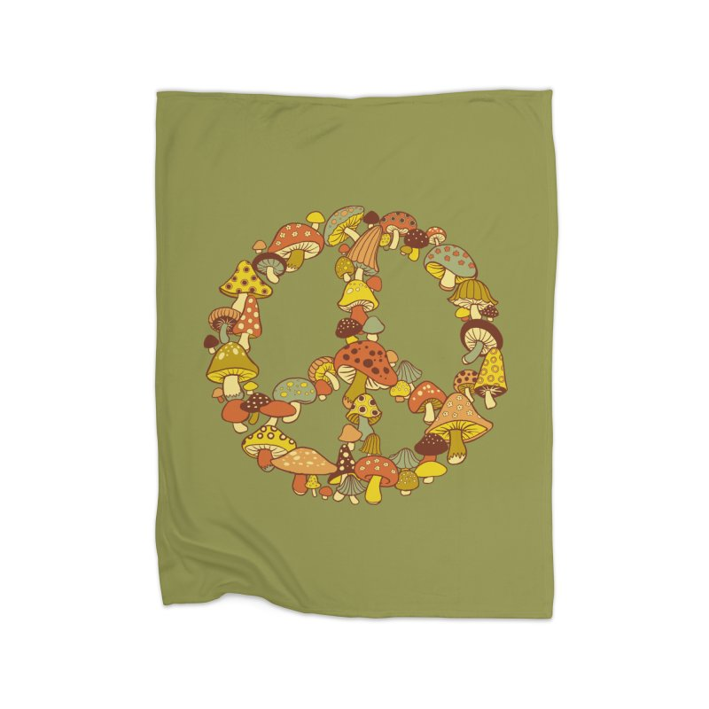 Mushroom Ring Home Blanket by Steven Rhodes