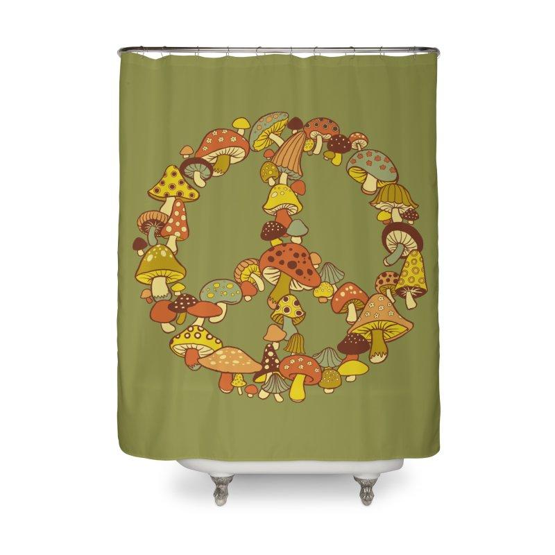 Mushroom Ring Home Shower Curtain by Steven Rhodes