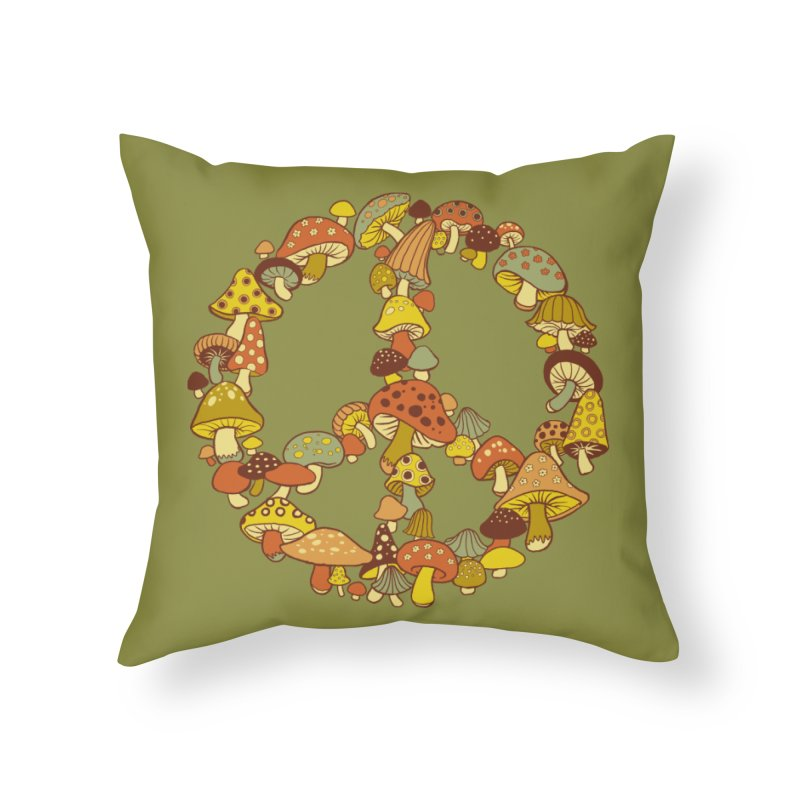 Mushroom Ring Home Throw Pillow by Steven Rhodes
