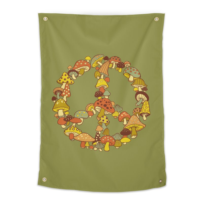 Mushroom Ring Home Tapestry by Steven Rhodes