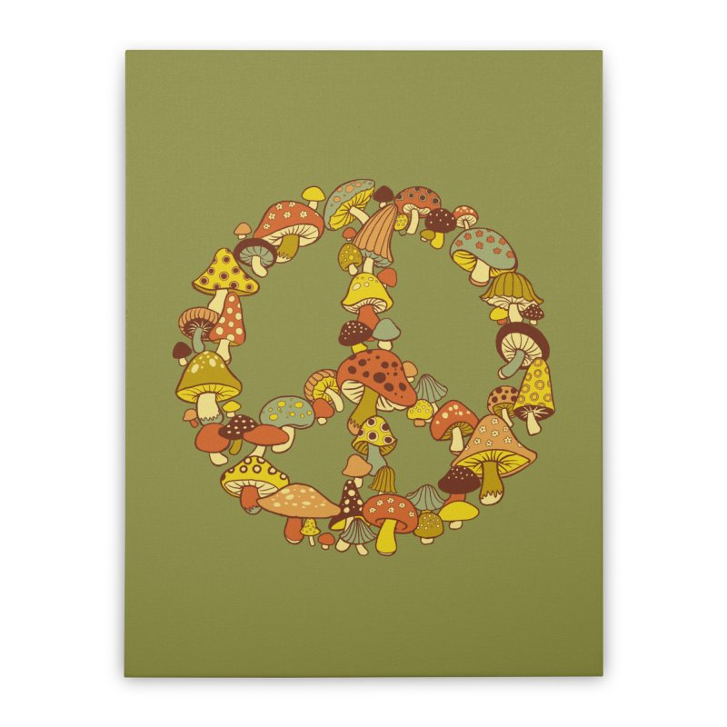 Mushroom Ring Home Stretched Canvas by Steven Rhodes