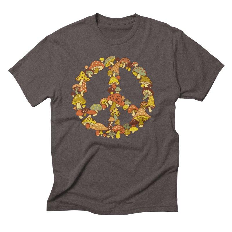 Mushroom Ring Men's Triblend T-Shirt by Steven Rhodes