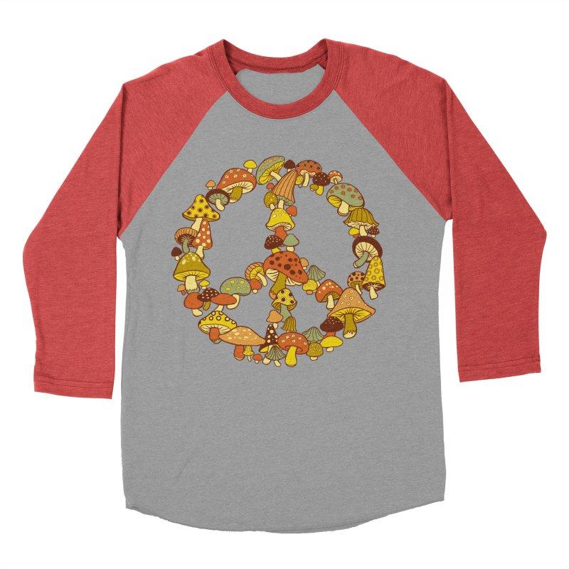 Mushroom Ring Women's Baseball Triblend T-Shirt by Steven Rhodes