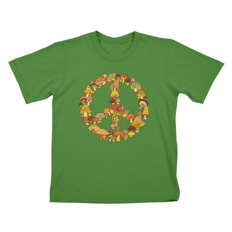 Mushroom Ring Kids T-Shirt by Steven Rhodes