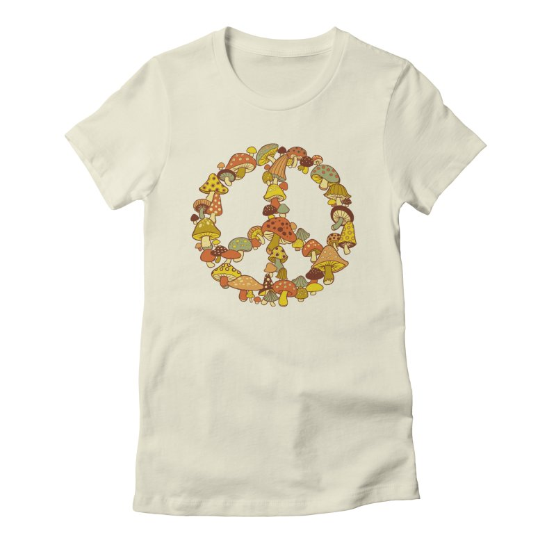 Mushroom Ring Women's Fitted T-Shirt by Steven Rhodes