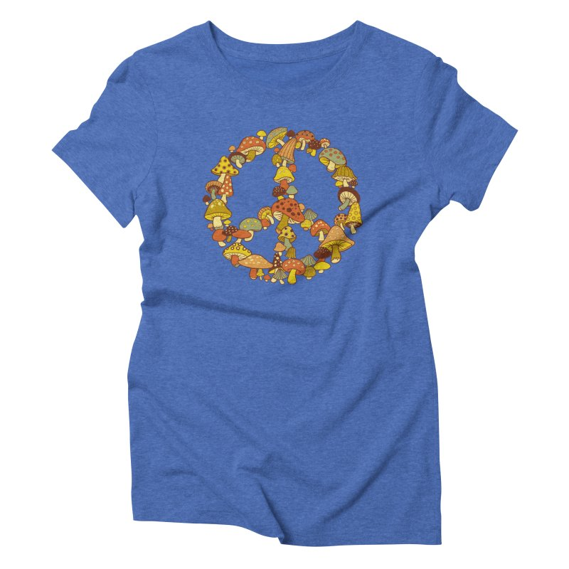 Mushroom Ring Women's Triblend T-Shirt by Steven Rhodes