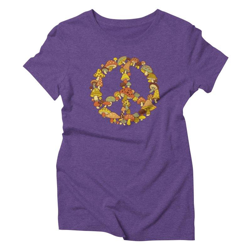 Mushroom Ring Women's Triblend T-Shirt by Steven Rhodes