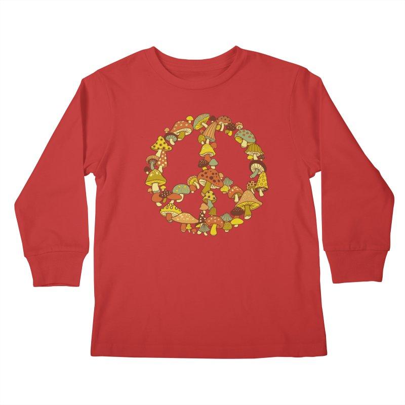 Mushroom Ring Kids Longsleeve T-Shirt by Steven Rhodes
