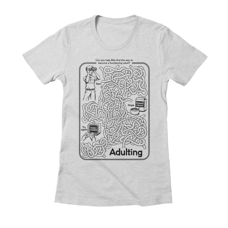 Impossible Maze Women's Fitted T-Shirt by Steven Rhodes