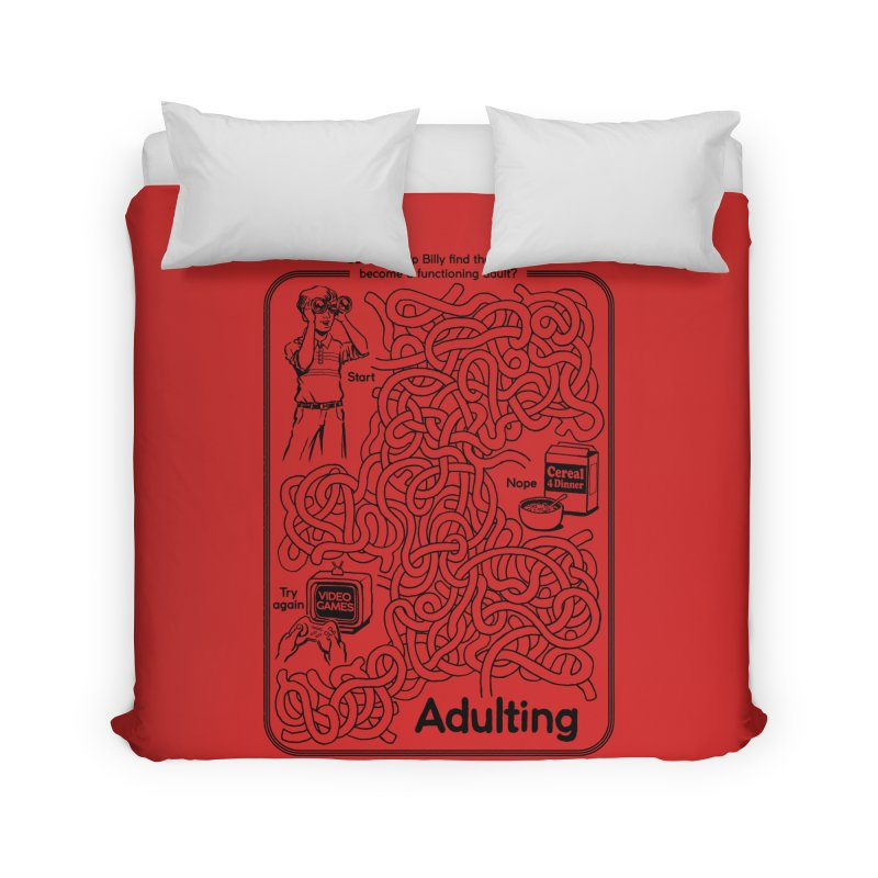 Impossible Maze Home Duvet by Steven Rhodes