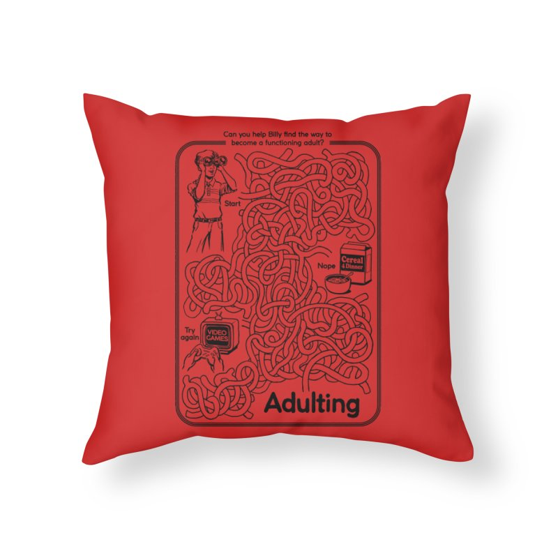 Impossible Maze Home Throw Pillow by Steven Rhodes