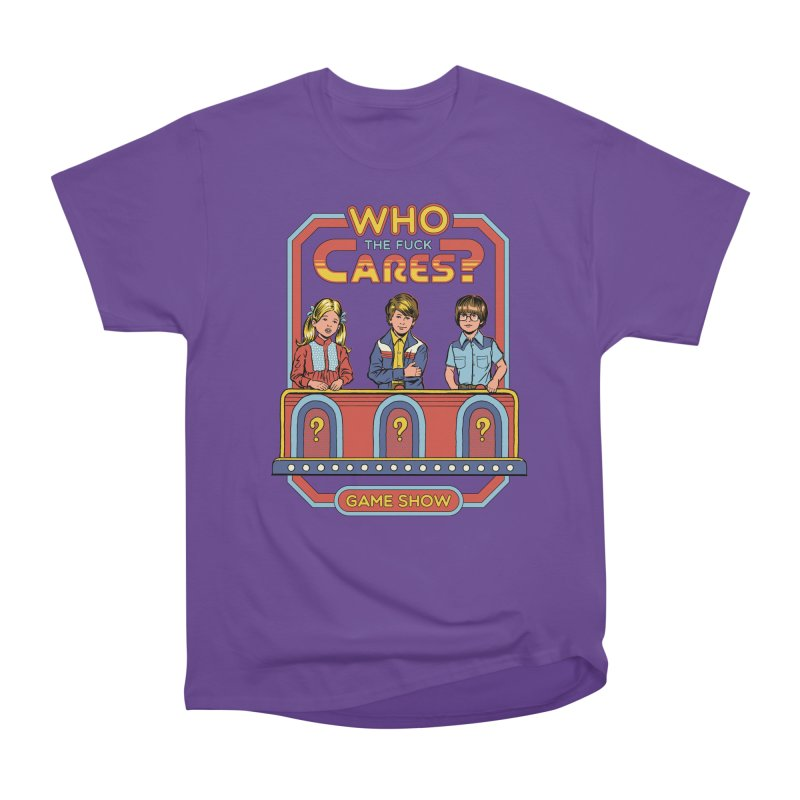 Who Cares? Men's Classic T-Shirt by Steven Rhodes