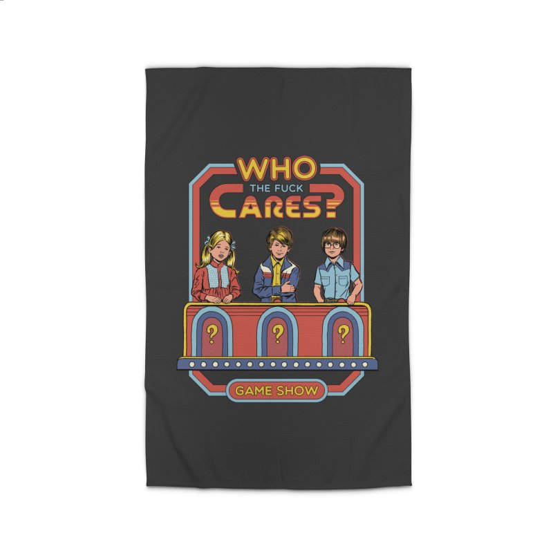 Who Cares? Home Rug by Steven Rhodes