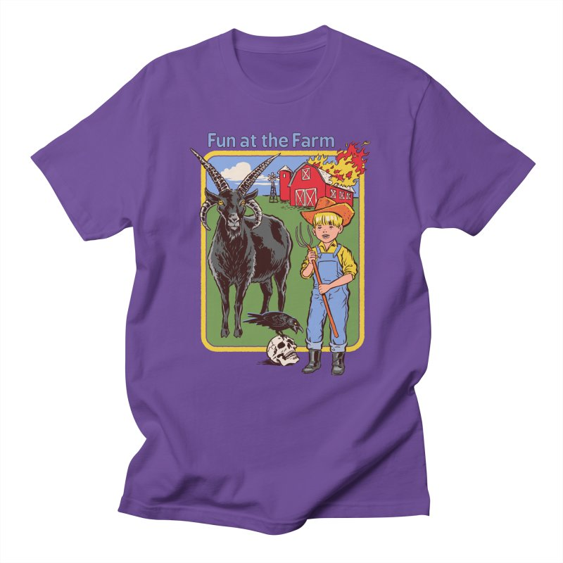 Fun at the Farm Men's T-Shirt by Steven Rhodes