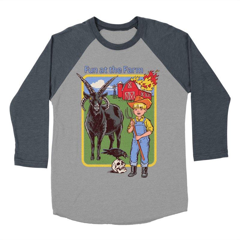 Fun at the Farm Men's Baseball Triblend T-Shirt by Steven Rhodes