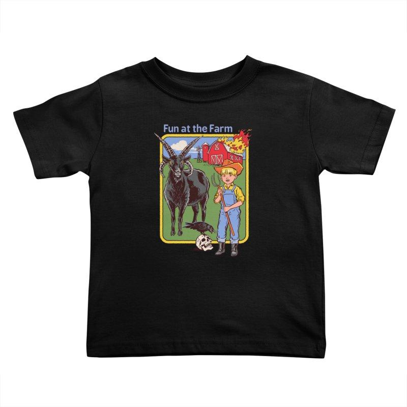 Fun at the Farm Kids Toddler T-Shirt by Steven Rhodes