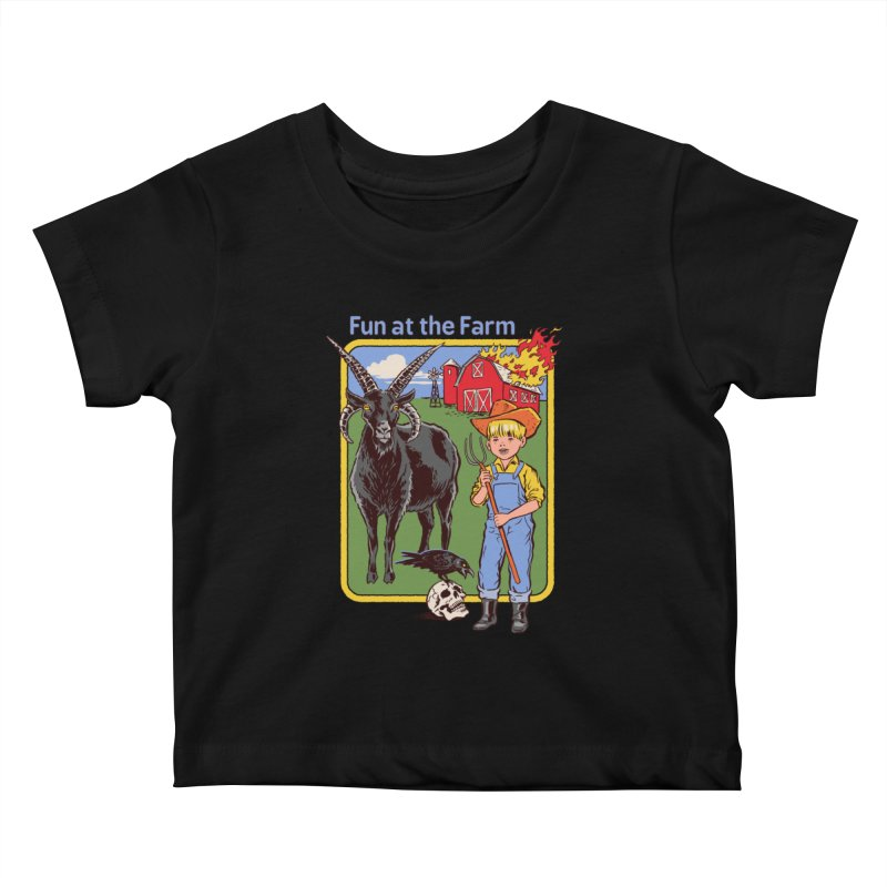 Fun at the Farm Kids Baby T-Shirt by Steven Rhodes
