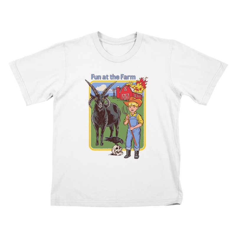 Fun at the Farm Kids T-Shirt by Steven Rhodes