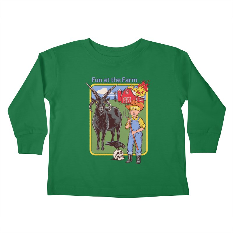 Fun at the Farm Kids Toddler Longsleeve T-Shirt by Steven Rhodes