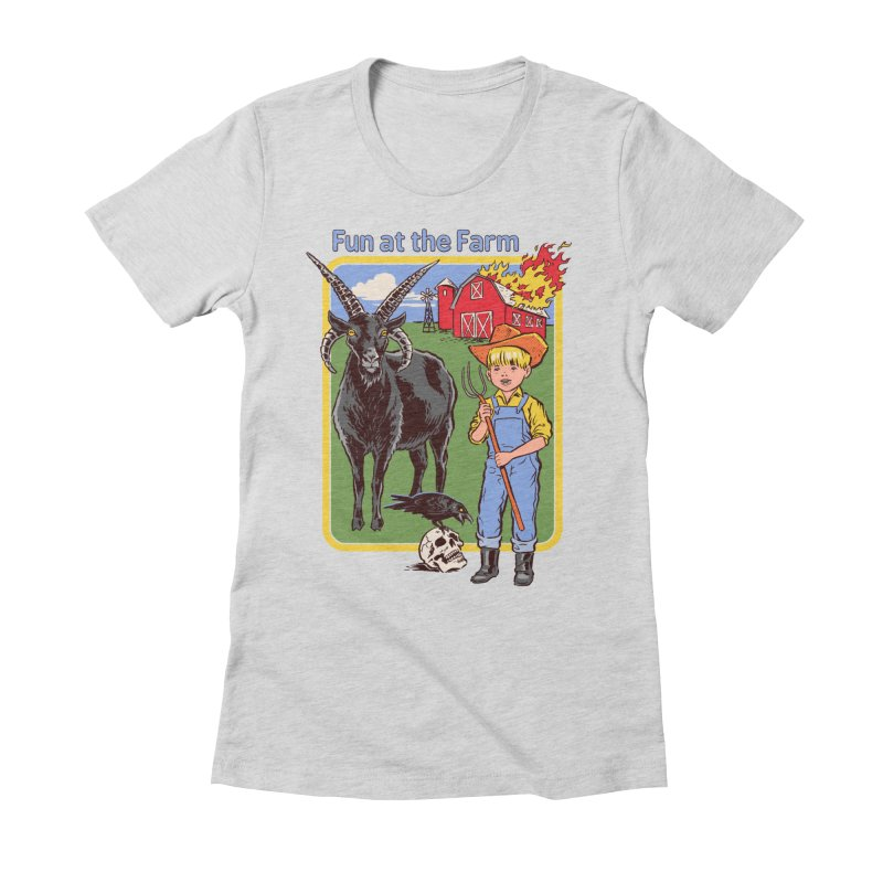 Fun at the Farm Women's Fitted T-Shirt by Steven Rhodes