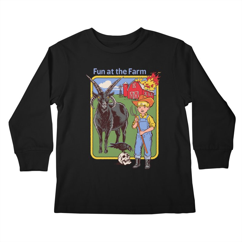 Fun at the Farm Kids Longsleeve T-Shirt by Steven Rhodes