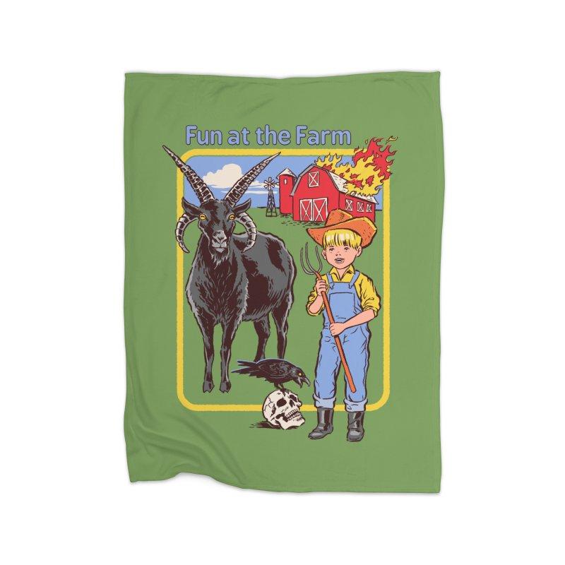 Fun at the Farm Home Blanket by Steven Rhodes