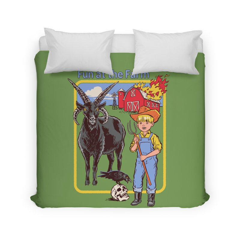 Fun at the Farm Home Duvet by Steven Rhodes