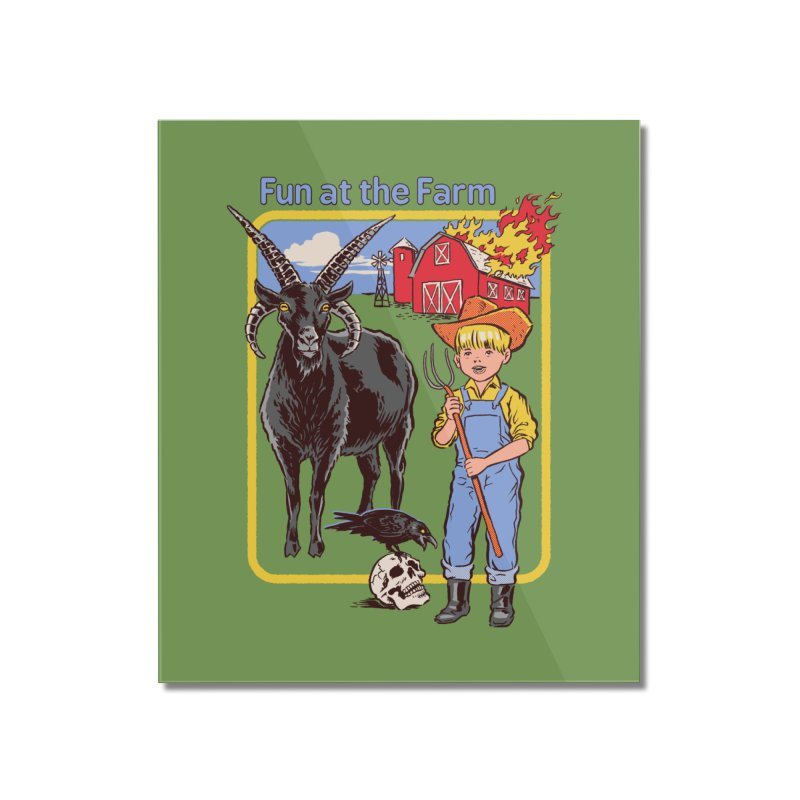 Fun at the Farm Home Mounted Acrylic Print by Steven Rhodes