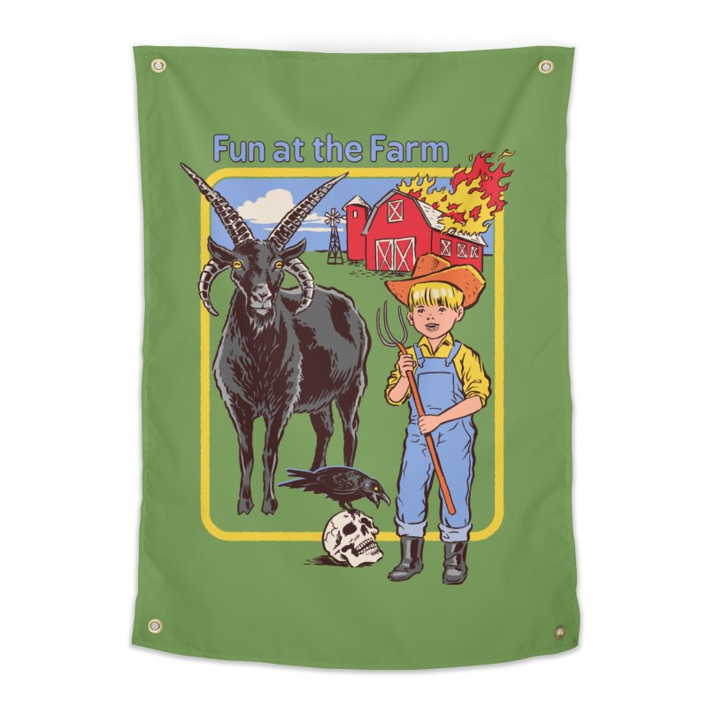 Fun at the Farm Home Tapestry by Steven Rhodes