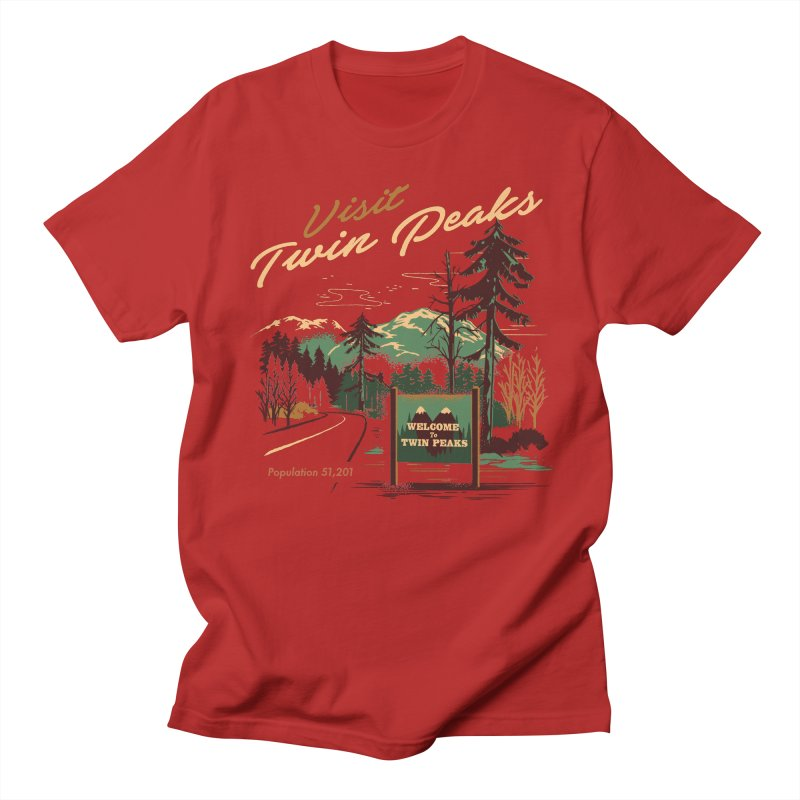 Welcome to Twin Peaks Men's T-shirt by Steven Rhodes