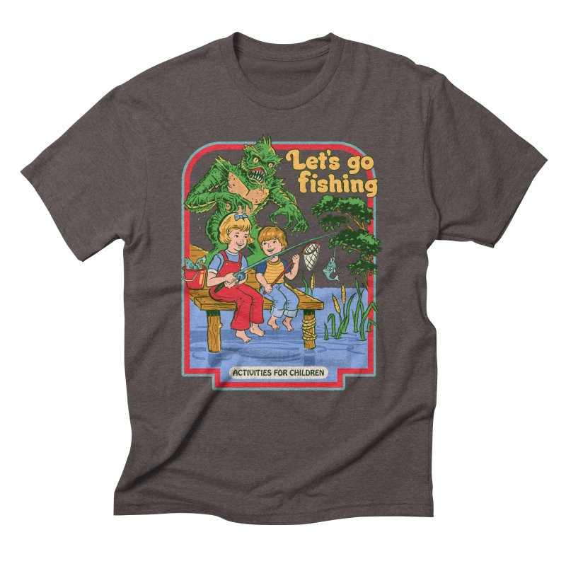 Let's Go Fishing Men's Triblend T-Shirt by Steven Rhodes