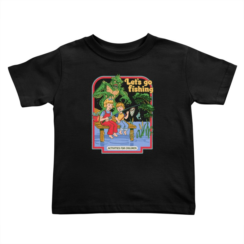 Let's Go Fishing Kids Toddler T-Shirt by Steven Rhodes