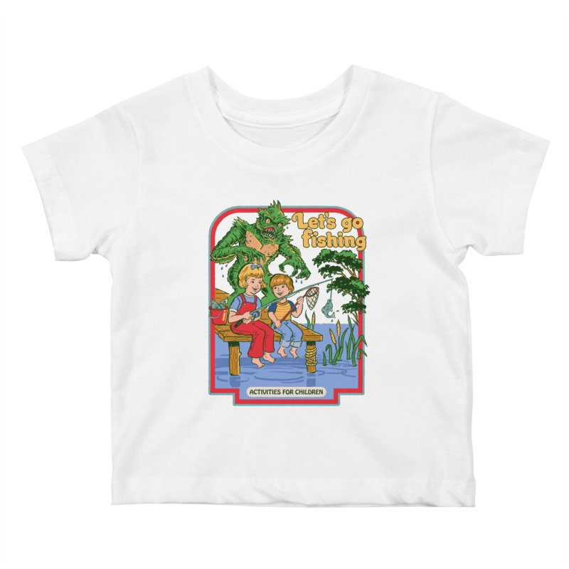 Let's Go Fishing Kids Baby T-Shirt by Steven Rhodes