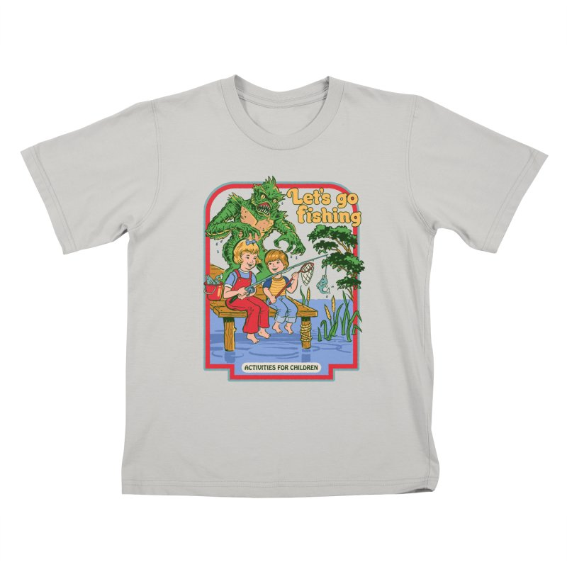 Let's Go Fishing Kids T-Shirt by Steven Rhodes
